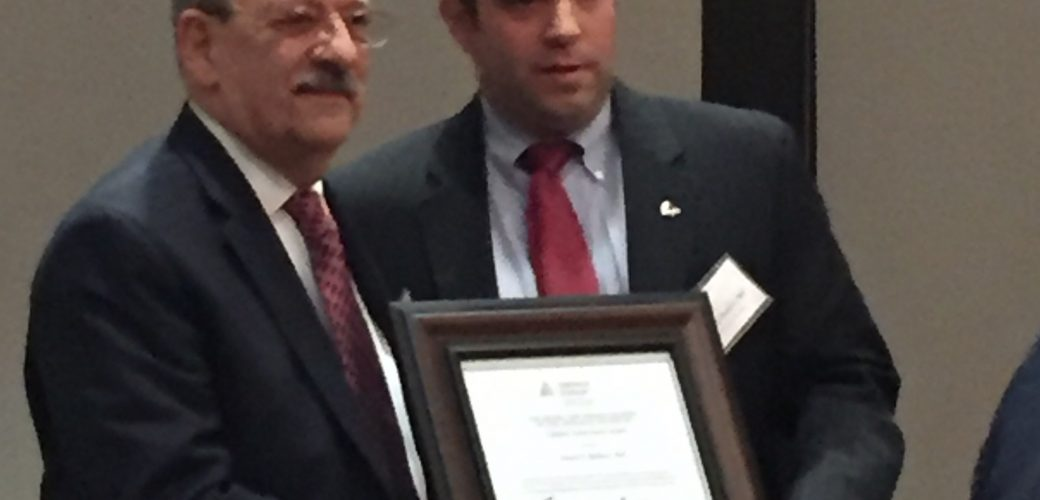 Joseph E. Baldoni, MAI earns the Lifetime Achievement Award